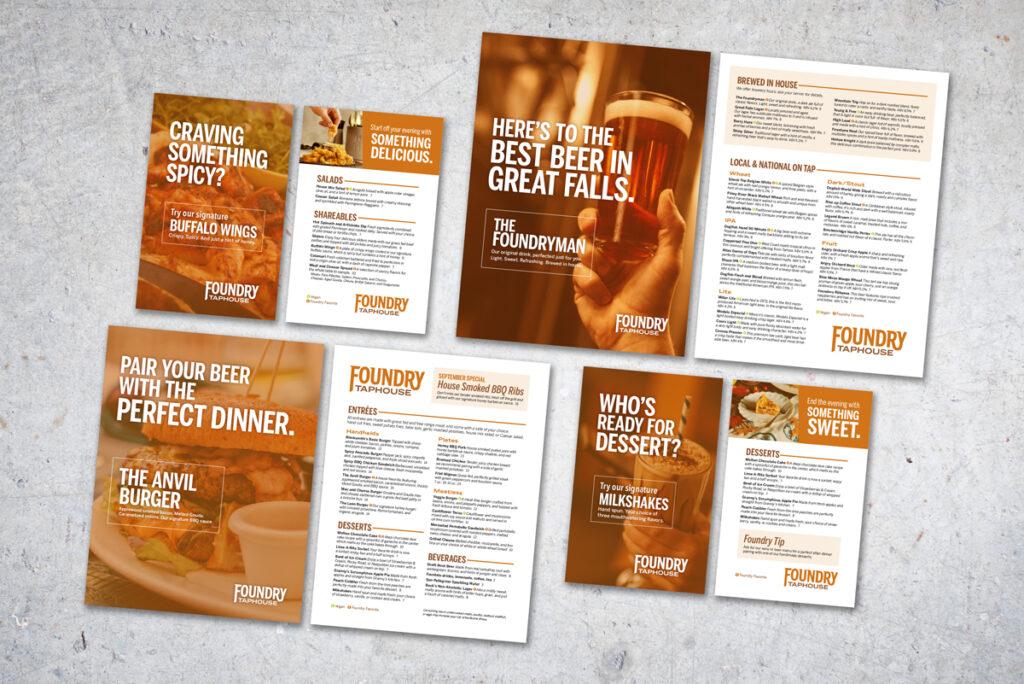 Foundry Taphouse menus